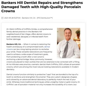 San Diego Cosmetic Dentist Can Restore Teeth with Porcelain Dental Crowns